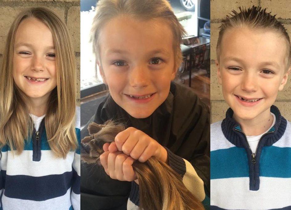Мальчик отрастил и пожертвовал волосы ракобольным и заболел сам