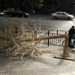 В Китае построили сломанное дерево из палочек для еды