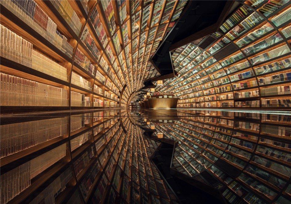 Yangzhou Zhongshuge - очень красивая библиотека в Китае