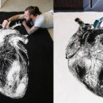 Дино Томик рисует удивительные рисунки при помощи соли