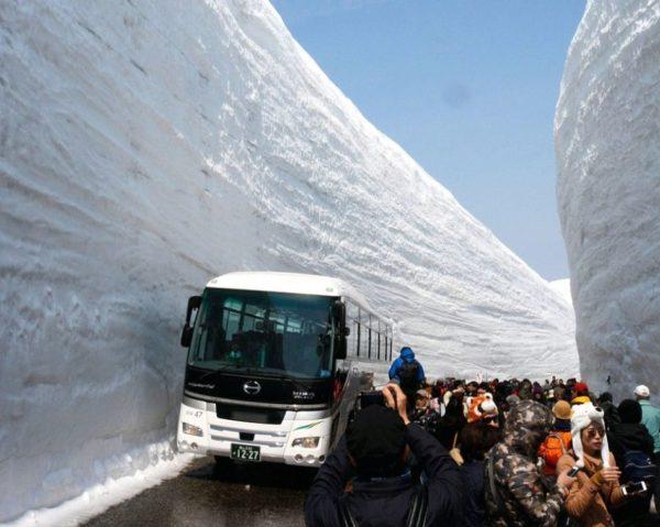 Татэяма Куробэ - зимний горный маршрут, который привлекает многих туристов