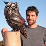 Джордан Сприг создает фигуры животных в натуральную величину из металлолома