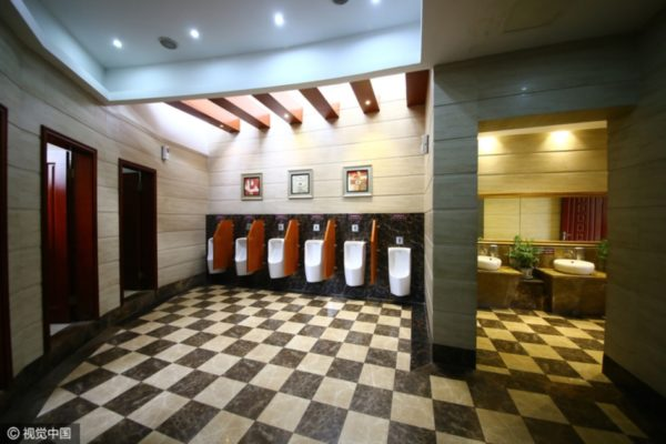 В Китае открылся 5-звездочный общественный туалет
