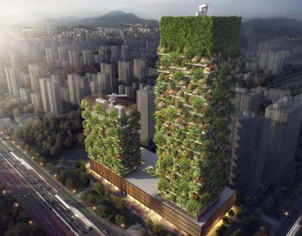 Архитектор Стефано Боери придумал первый вертикальный зеленый дом в Азии