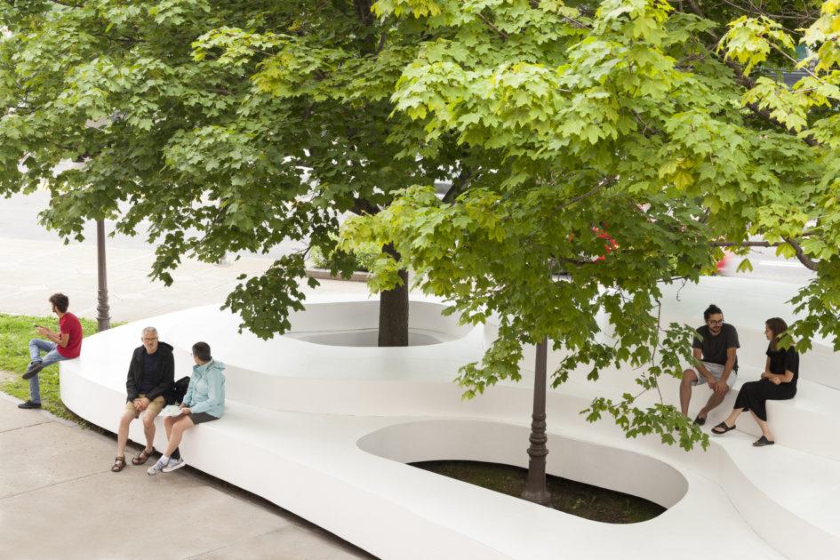 Интересная зона отдыха Le Banc de Neige от компании Atelier Pierre Thibault