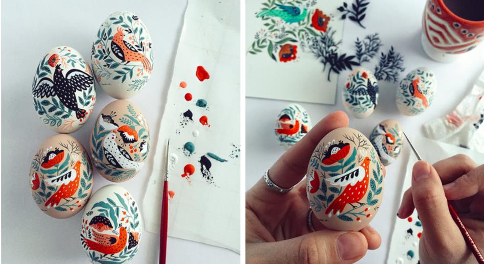 Диана Мирталипова — иллюстрирует пасхальные яйца в стиле колорита своей страны
