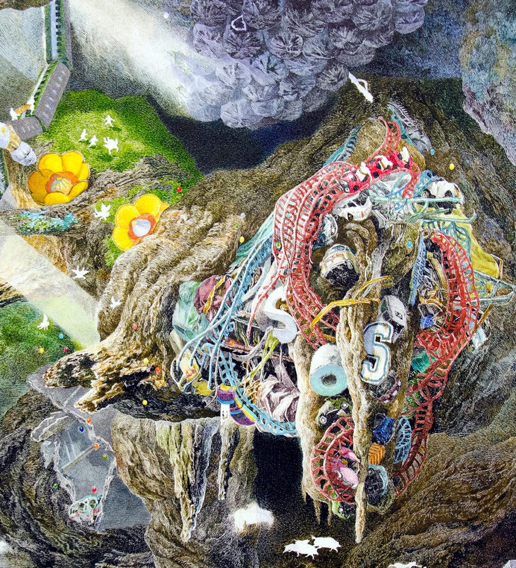 Художник Манабу Икеда создал удивительную картину, на которую ушло почти 3,5 года