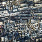 Удивительные аэроснимки более 6 тысяч сгоревших автомобилей в Китае