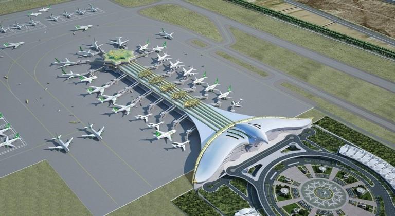 В Ашхабаде открылся аэропорт в виде сокола