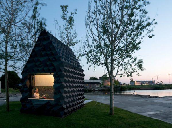 В Амстердаме представили домик, напечатанный на 3D-принтере