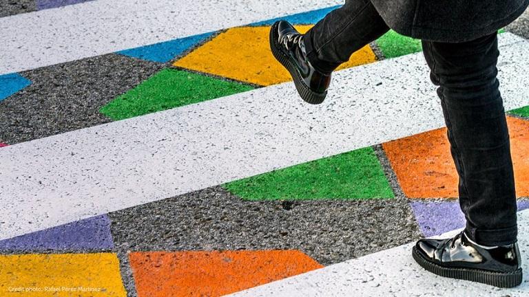 Пешеходные переходы в Мадриде, которые невозможно не заметить