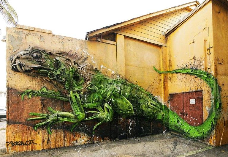 Артур Бордало создает крутые инсталляции из мусора