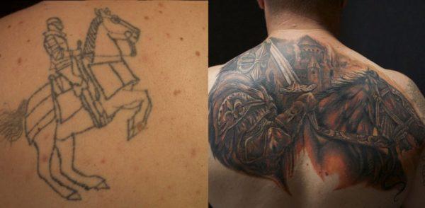 10 удачных исправлений неудачных татуировок
