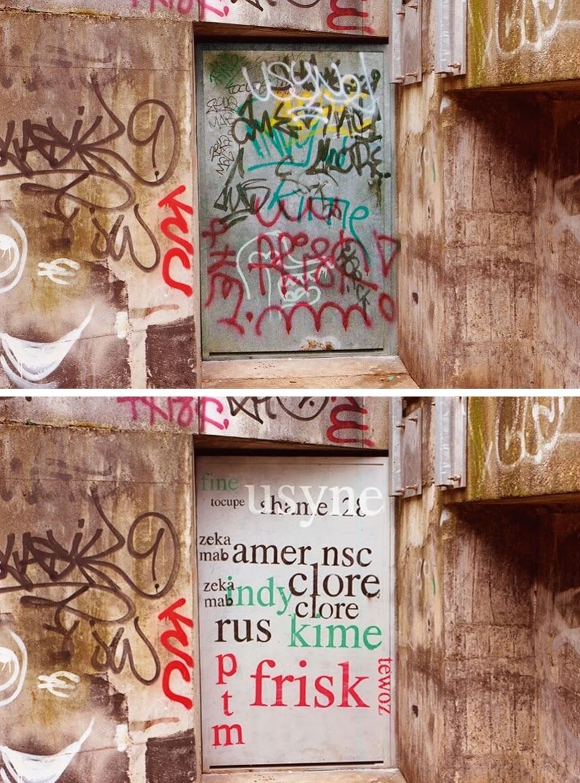 Мэтью Тремблин преобразовал надписи на стенах в более читабельный вид