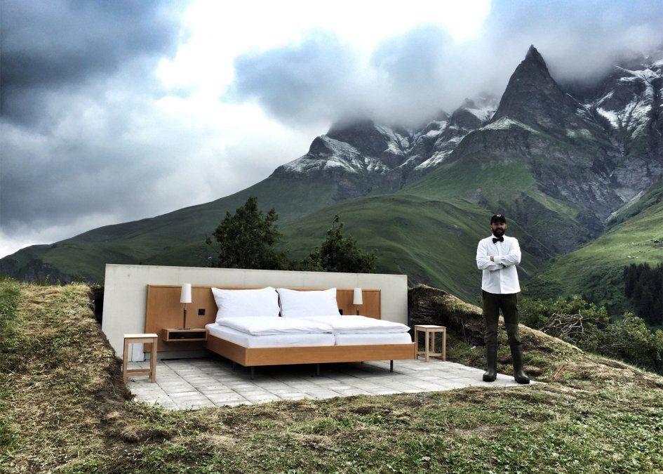 Null Stern - отель под открытым небом, который открылся в Альпах
