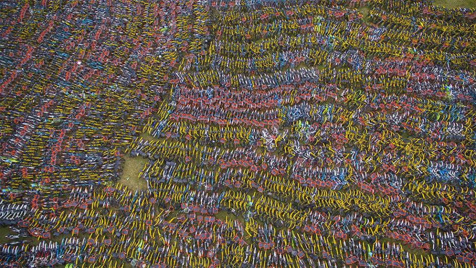 Более 23000 велосипедов на штрафстоянках Ханчжоу