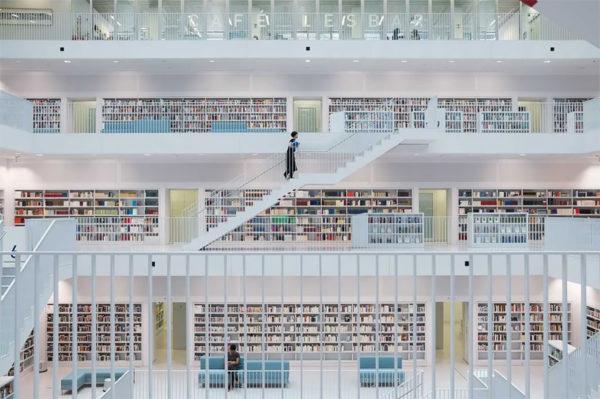 Фотограф Скандер Хлиф показал красоту Штутгартской муниципальной библиотеки