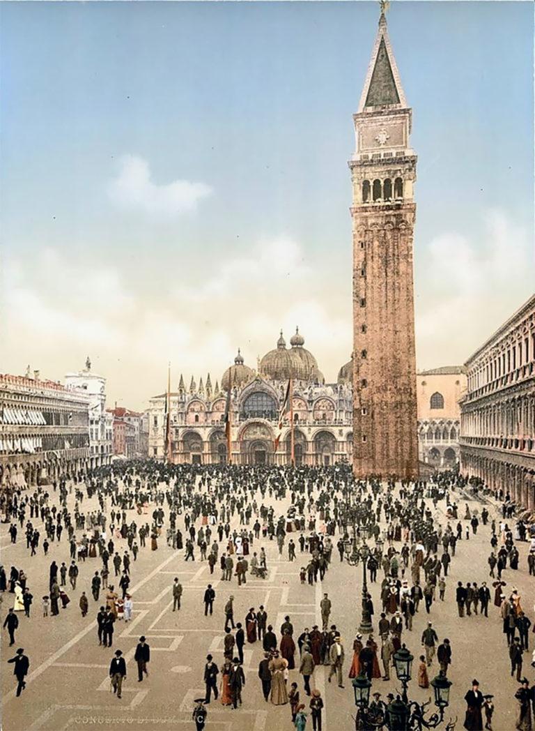20+ потрясающих цветных фотографий Венеции 1890-х годов
