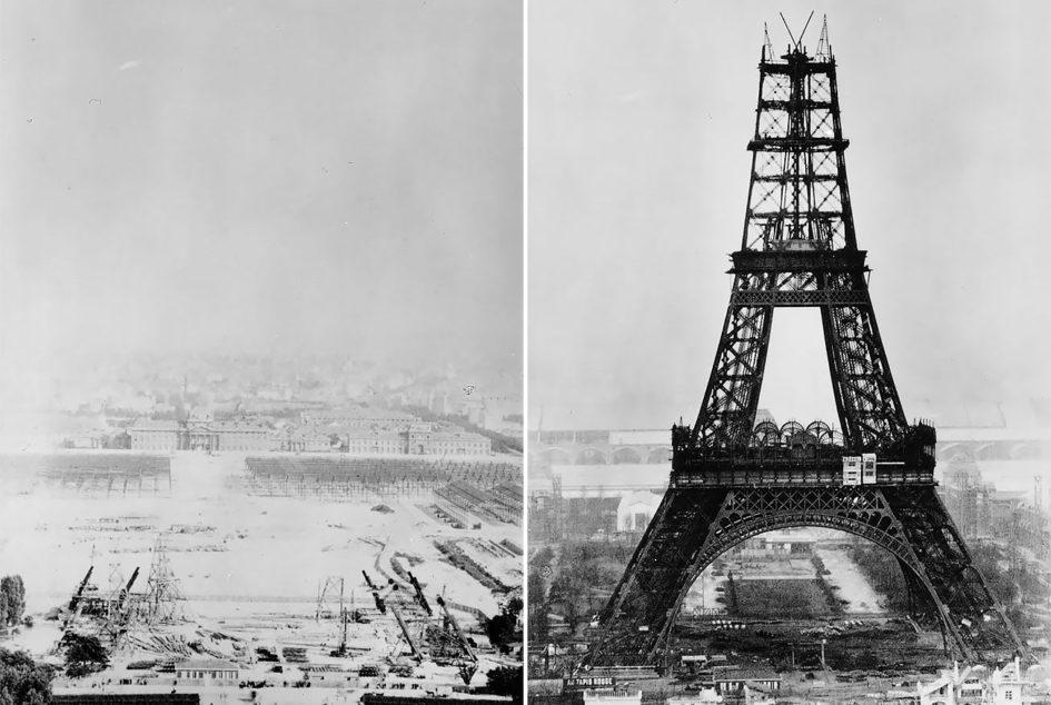 Как строилась Эйфелева башня 03