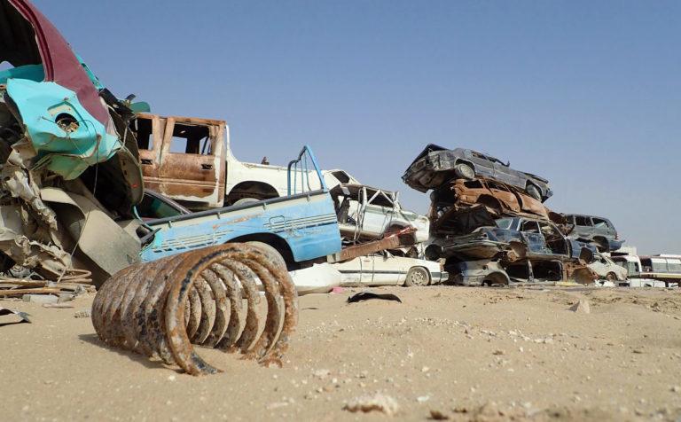 Свалка в Аль-Вукаире - крупная свалка и музей автомобилей недалеко от Дохи