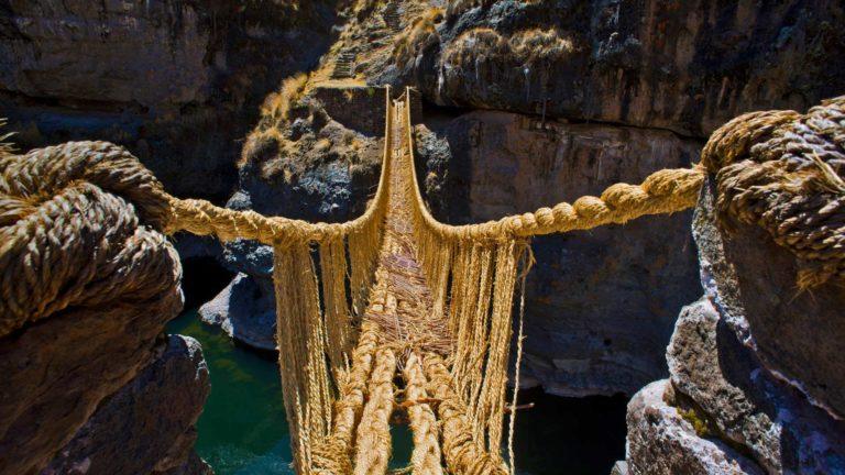 Кешва Чака - последний канатный мост инков